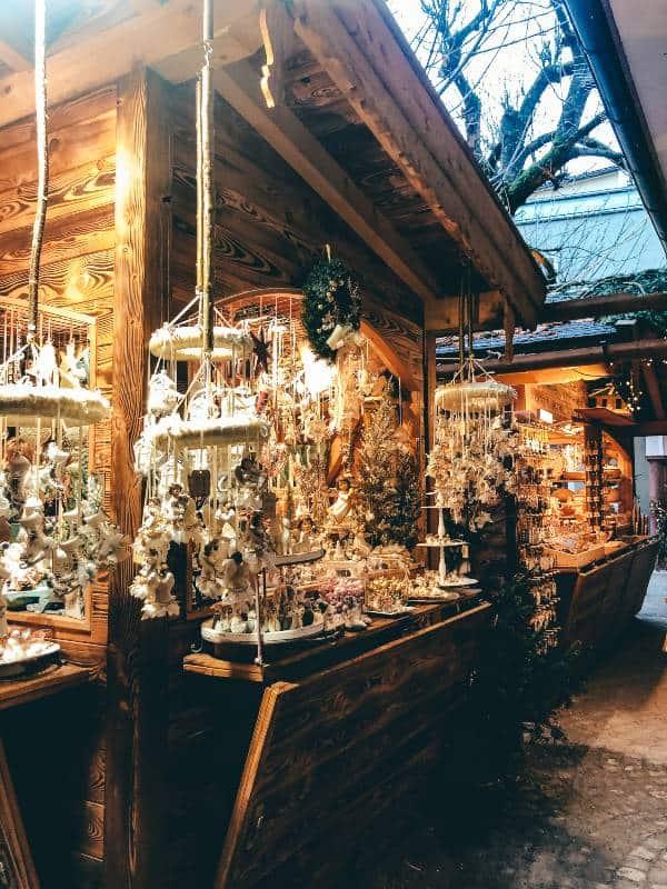 A Christmas market stall in Salzburg