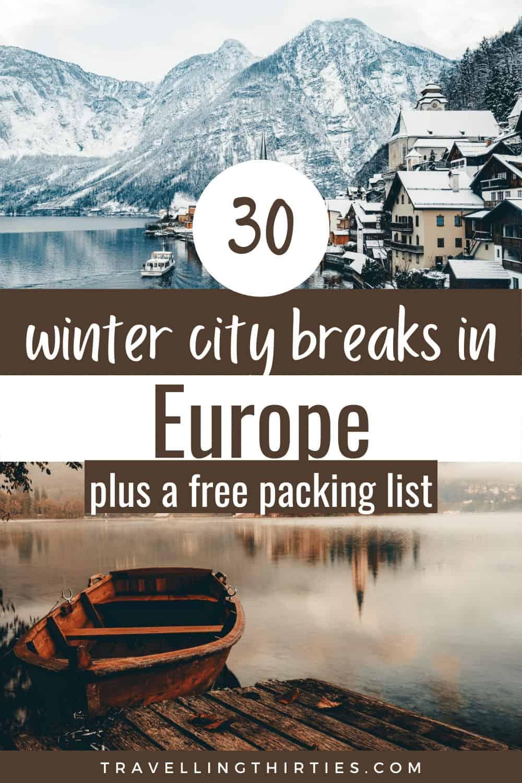 Pinterest Graphic for the Best Winter City Breaks Europe