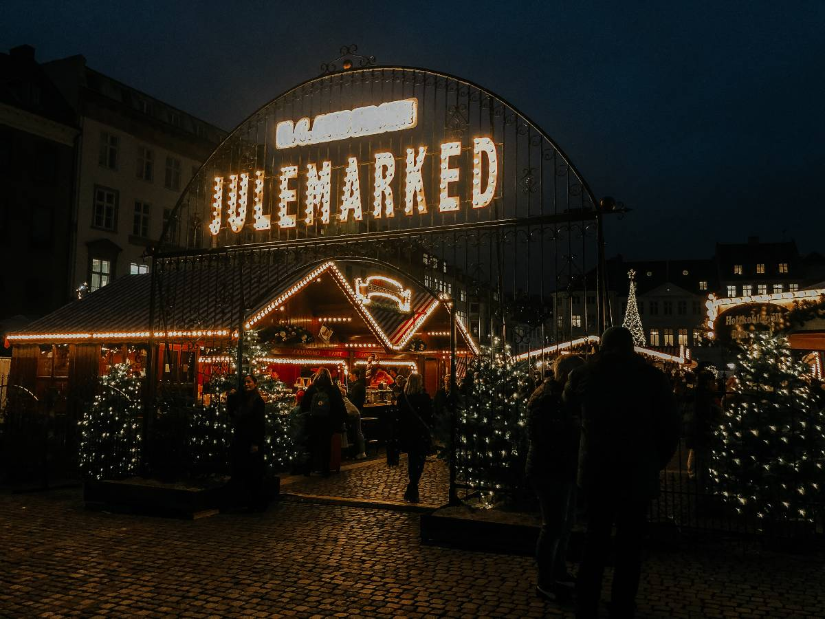 Entrance to the Julemarked in Copenhagen