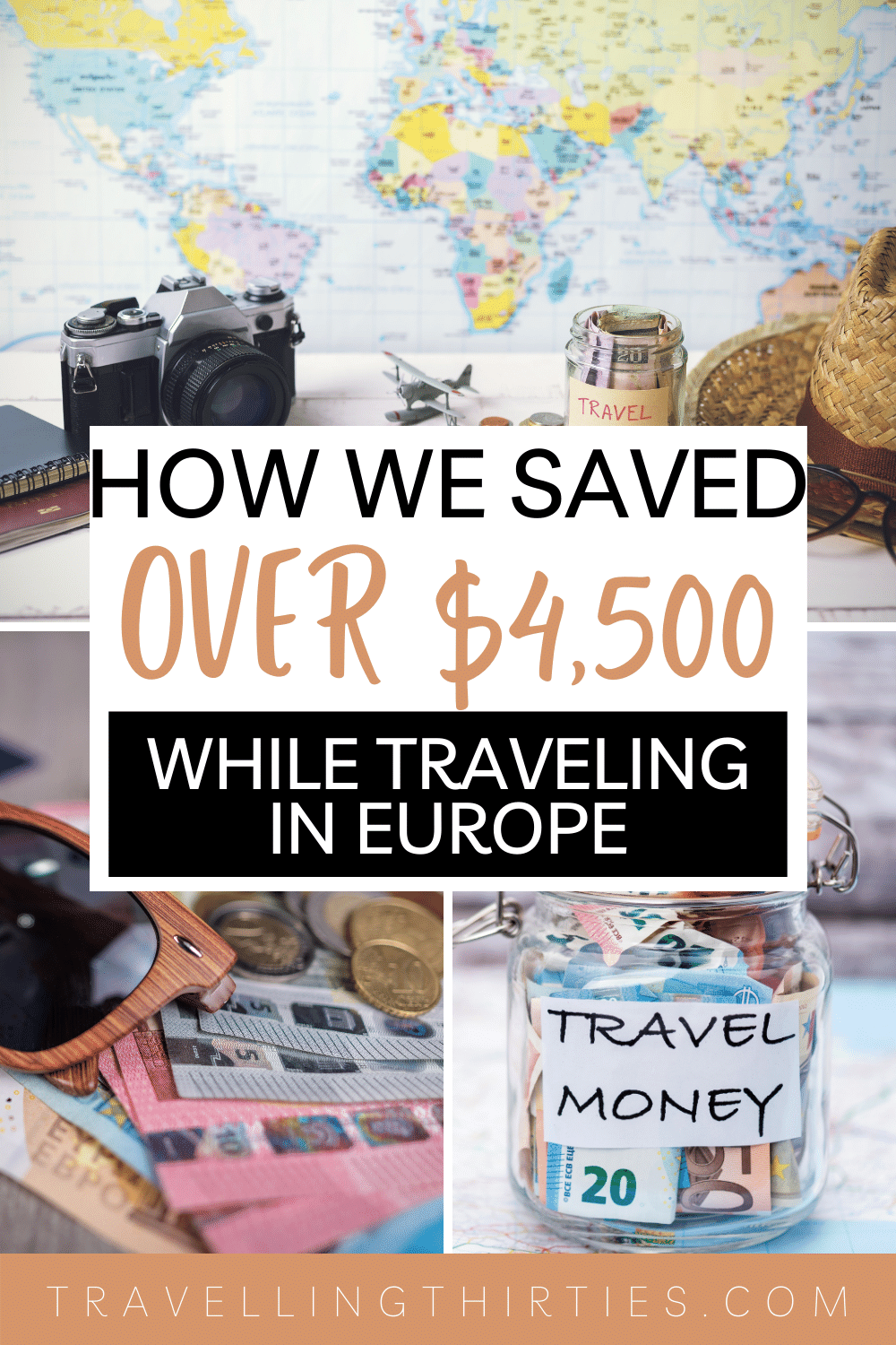 Pinterest graphic for travelling Europe on a budget