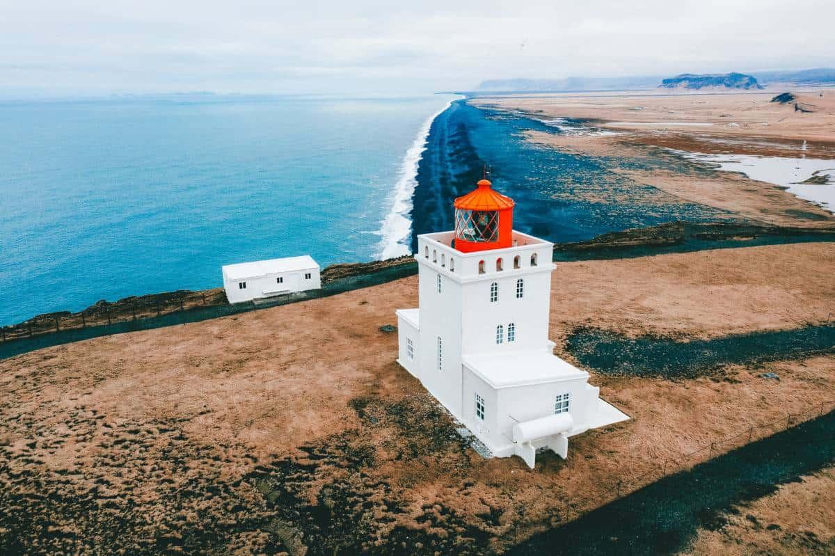 The castle looking lighthouse at Dyrhólaey