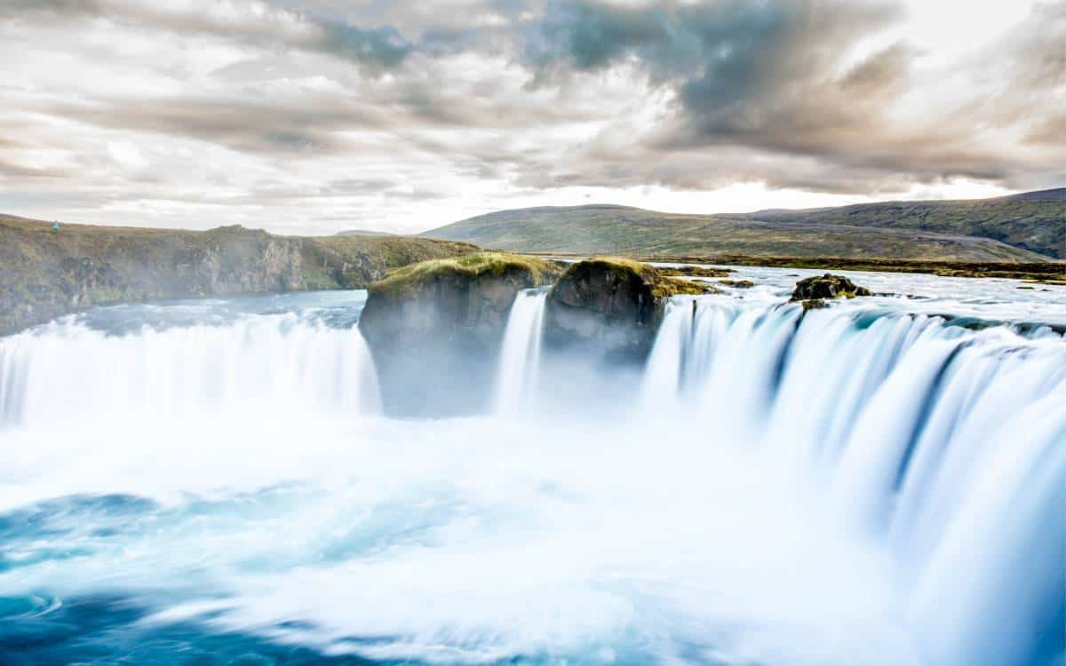 The Goðafoss in Iceland