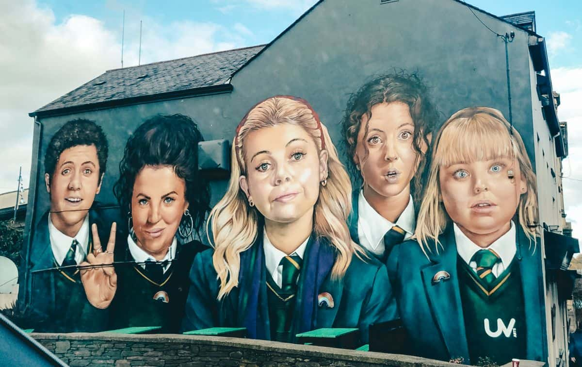 The Derry Girls mural in Londonderry