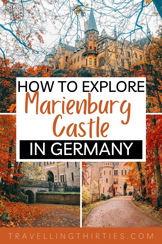 Pinterest Graphic for Schloss Marienburg, Hannover