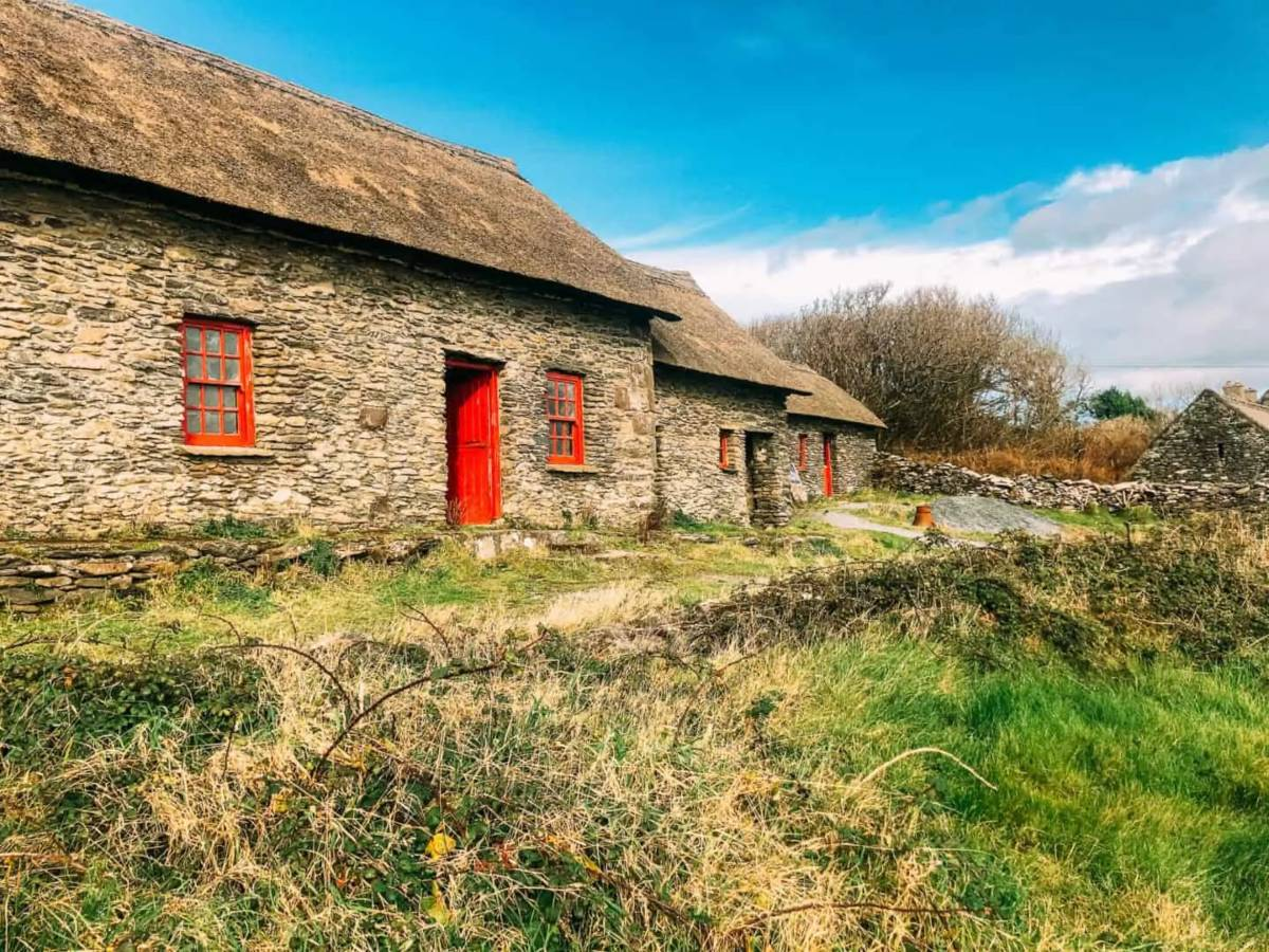Examples of the famine Cottages on Slea head Drive