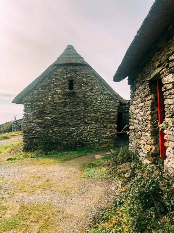 The stone famine cottages along the Slea Head Drive