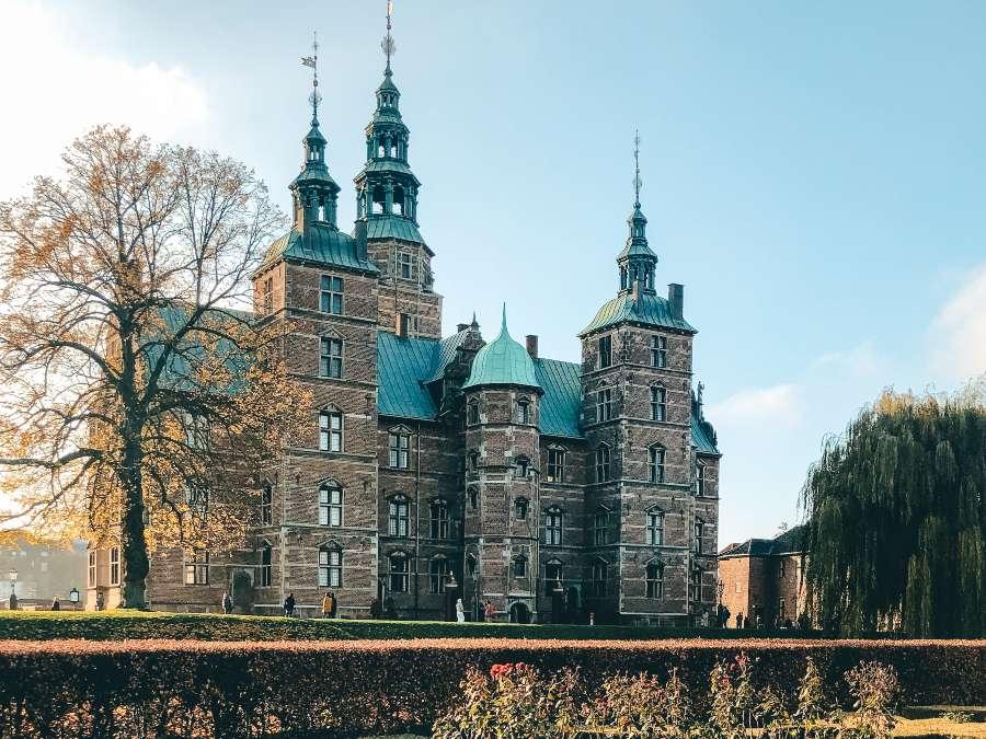 Rosenburg Castle in Copenhagen in autumn