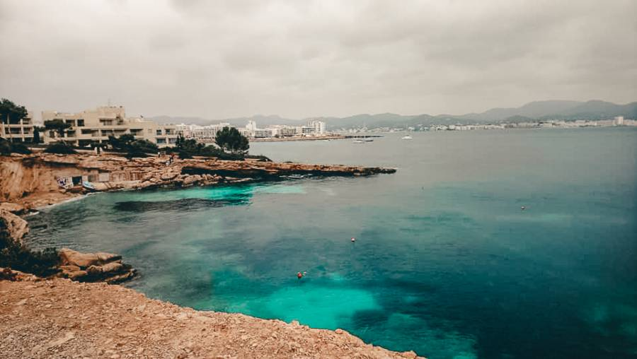 A view over the ocean in Ibiza  during winter