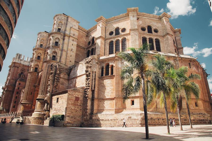 The cathedral in Malaga, Spain