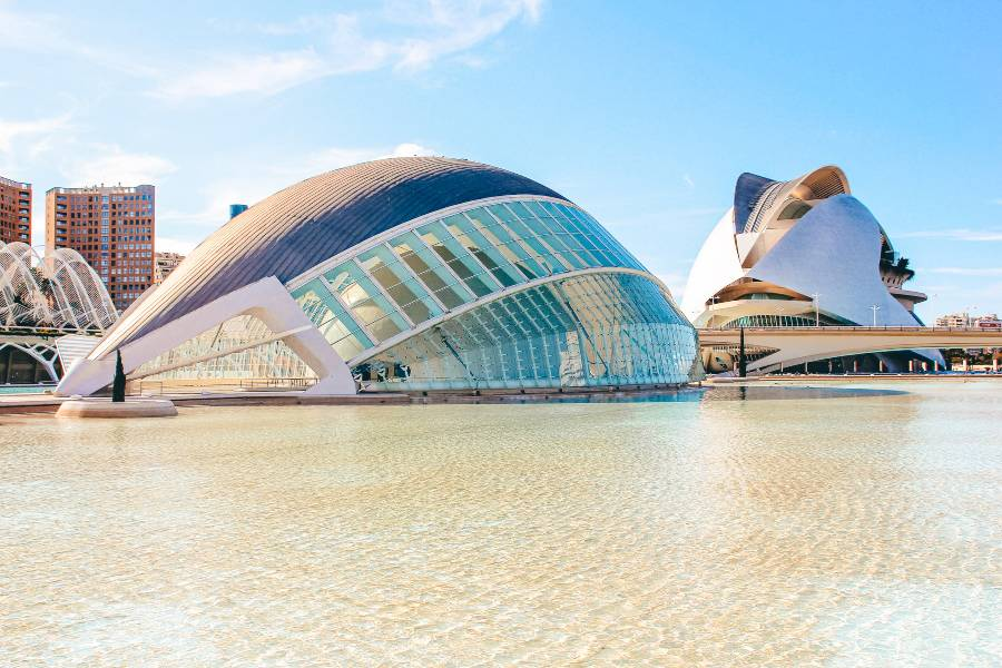 A museum in Valencia Spain by the river