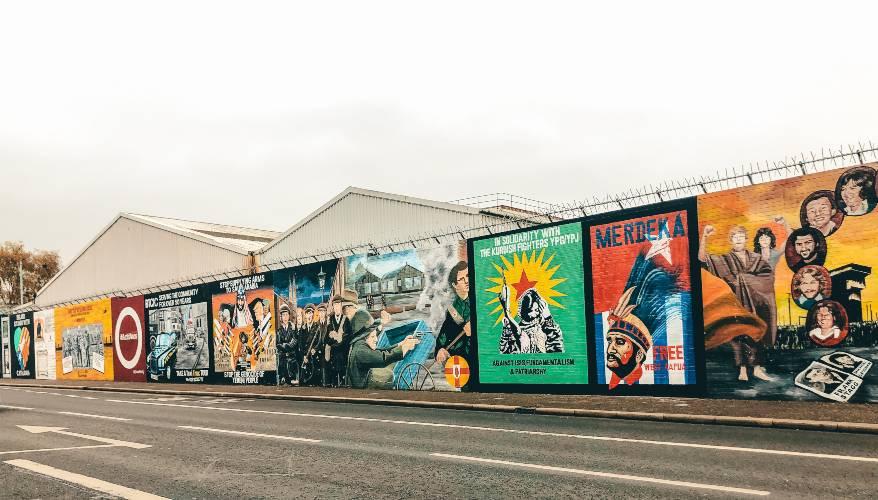 The murals in Belfast