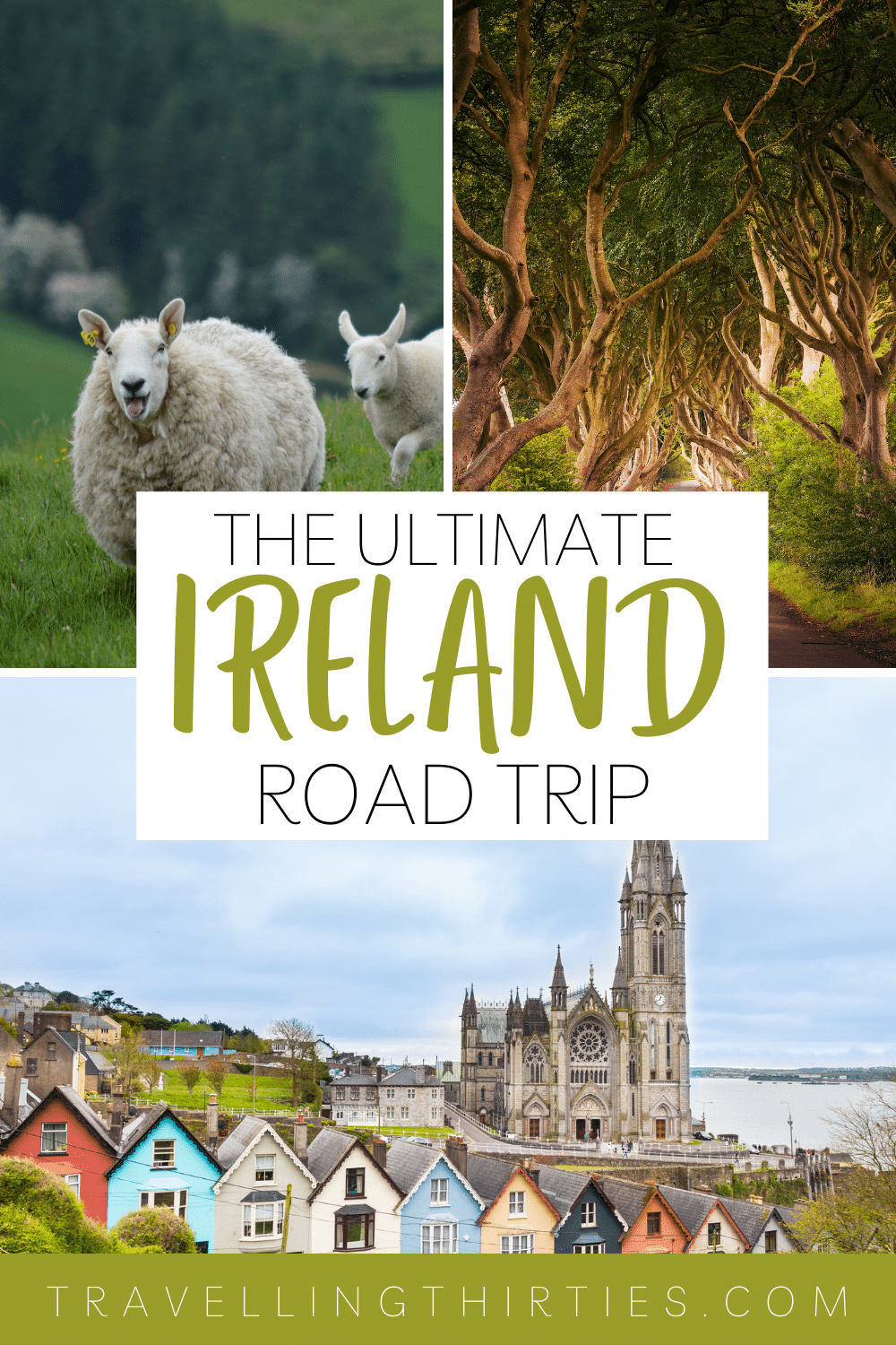 Pinterest graphic for the best 7 day driving tour of Ireland and Northern Ireland