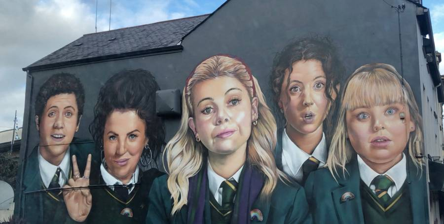 Derry Girls Mural in Northern Ireland
