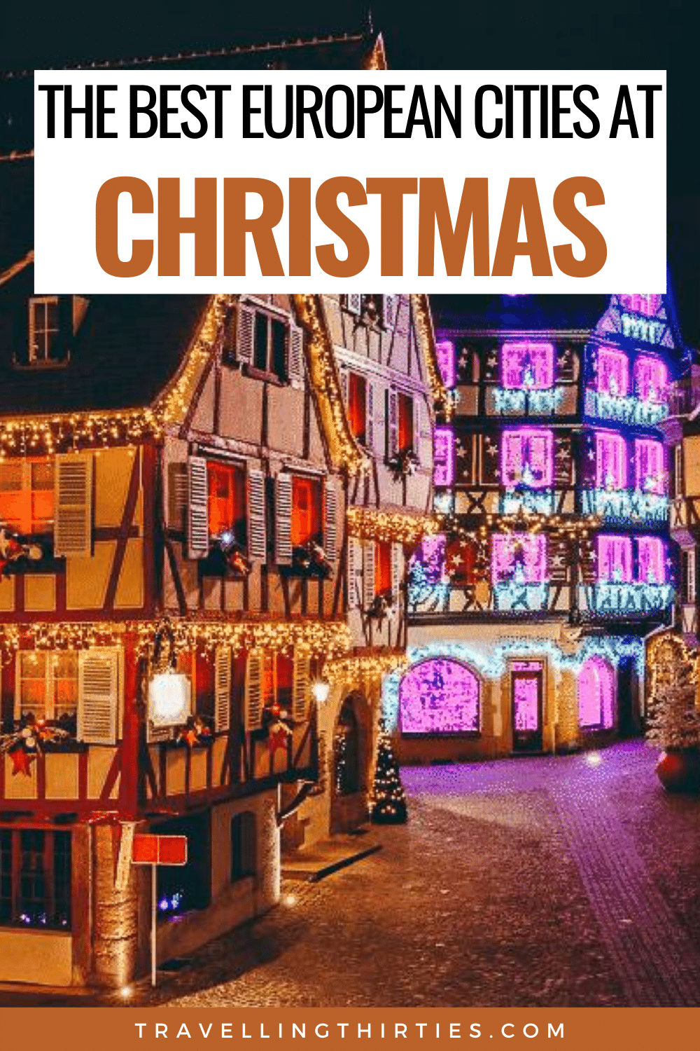 Pinterest Graphic for the Best Christmas Cities in Europe