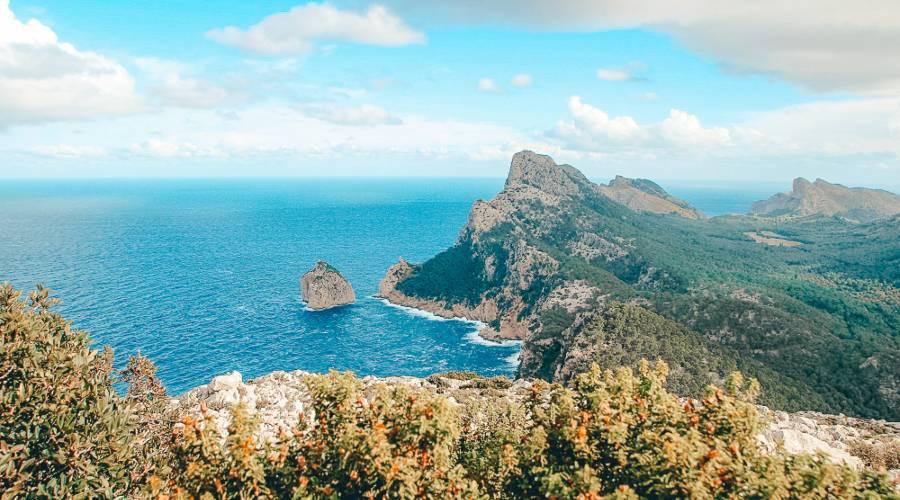 A view of Cap Formentor vie in Mallorca, Spain