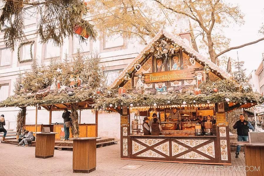 Wooden Christmas market in Stuttgart