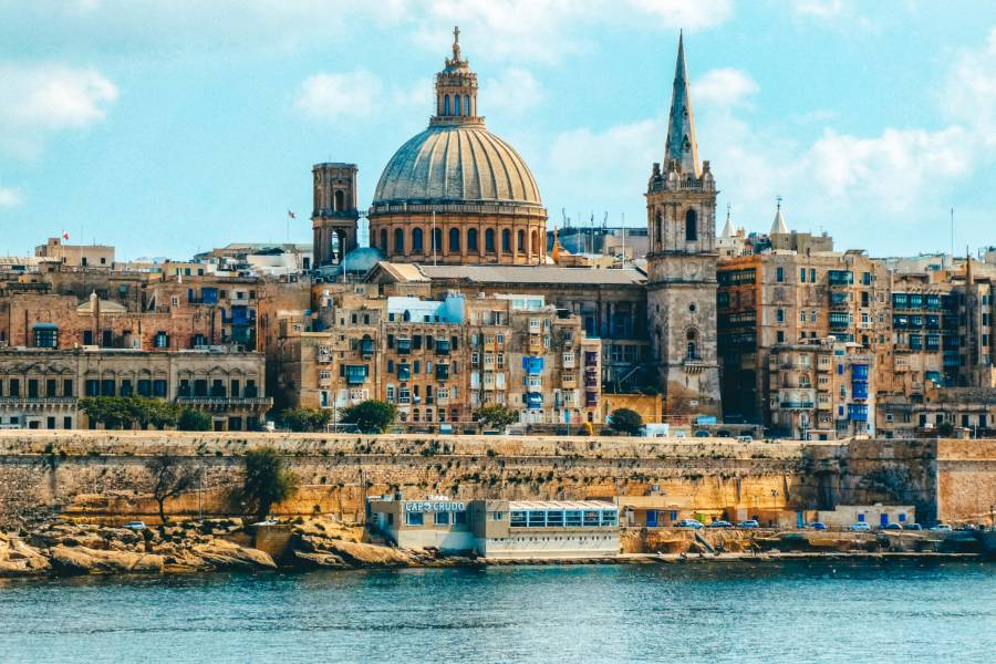 A view of Valletta from the water
