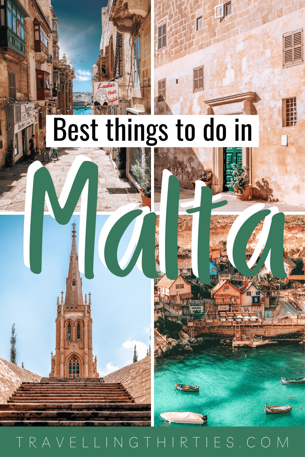 Pinterest Graphic for things to do in Malta