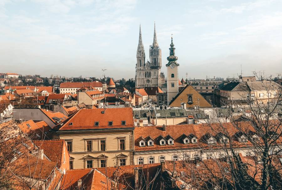 A view over Zagreb from Kula Lotrscak