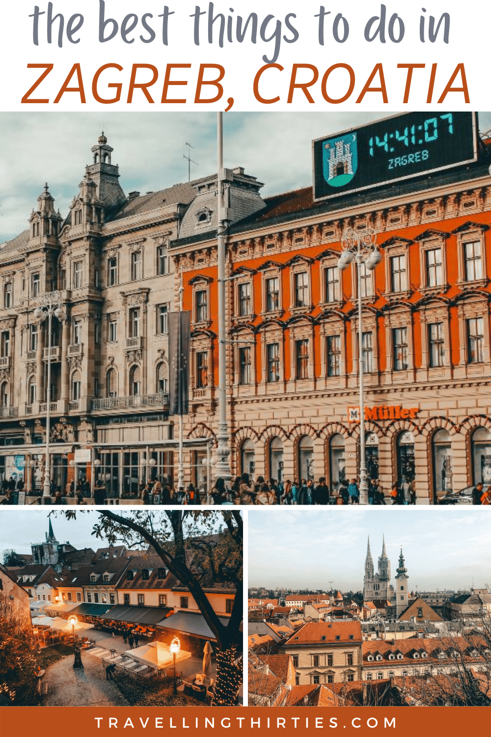 Pinterest graphic for the things to see in Zagreb Croatia