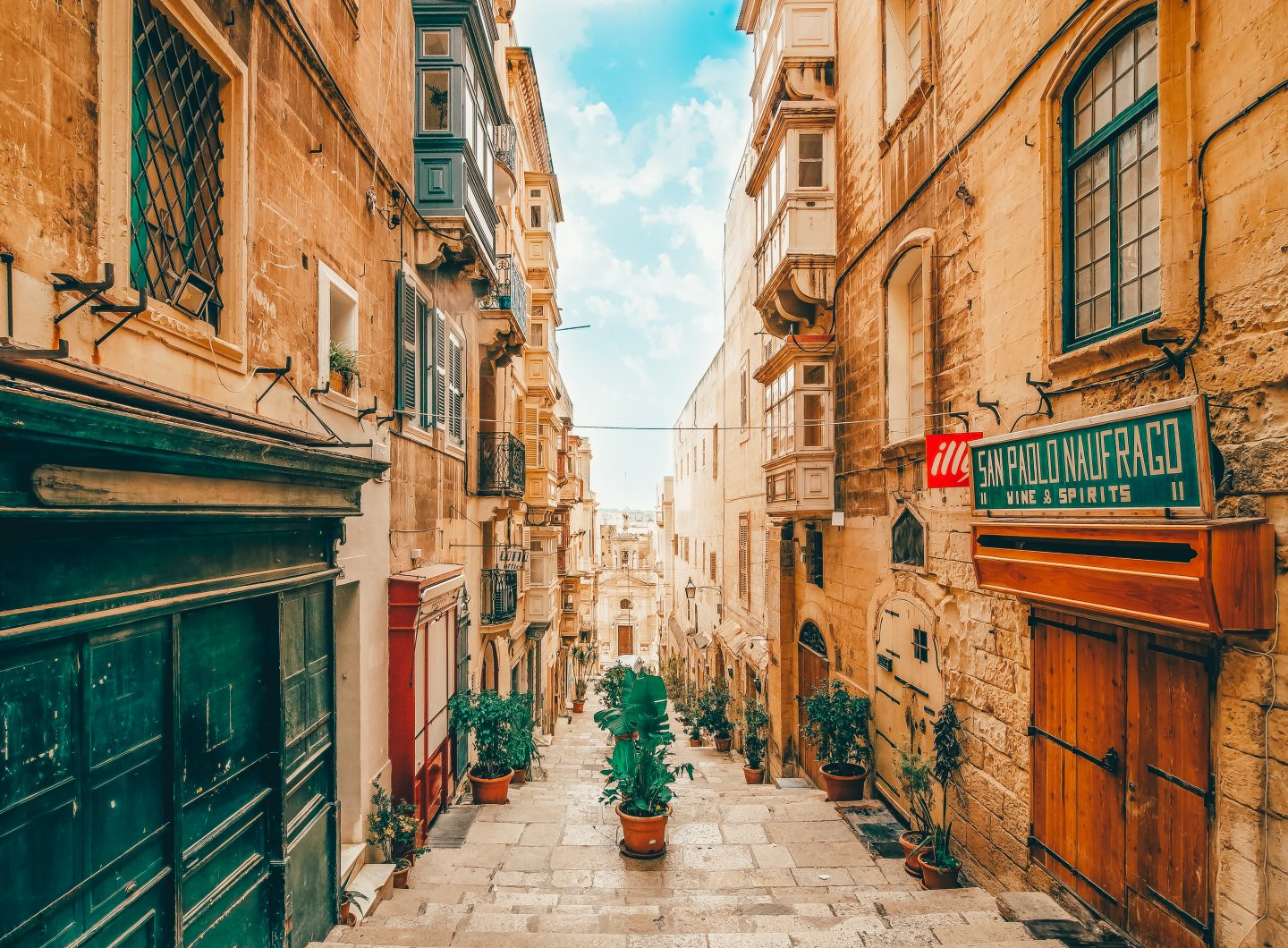 One the World Heritage streets in Valletta