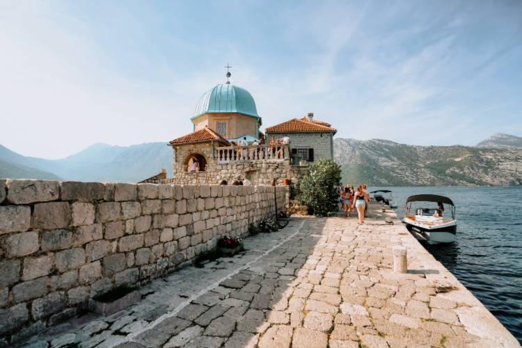 The port in Montenegro