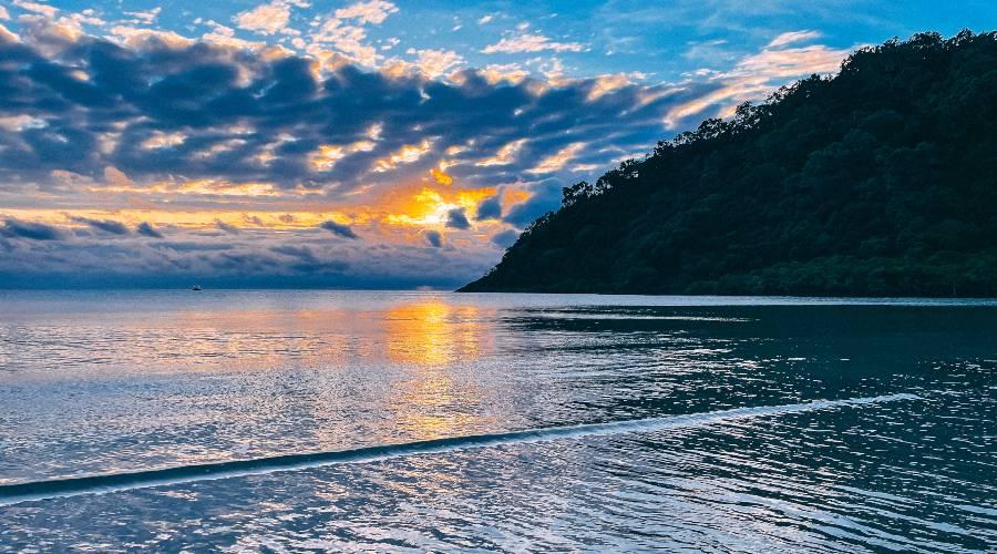 Sunrise at Cape Tribulation Beach