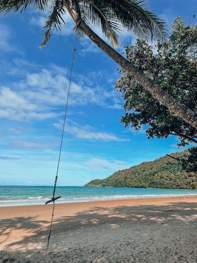 Swing at Cow Bay Beach