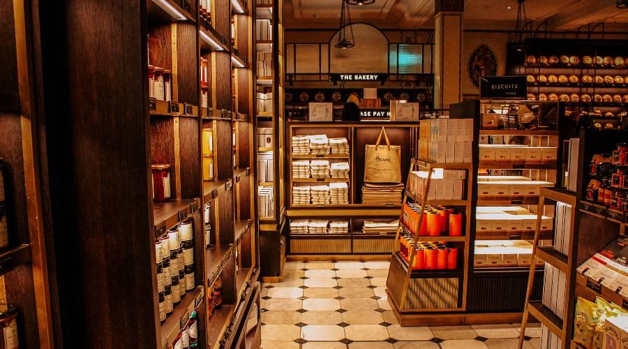 Inside Harrods in London